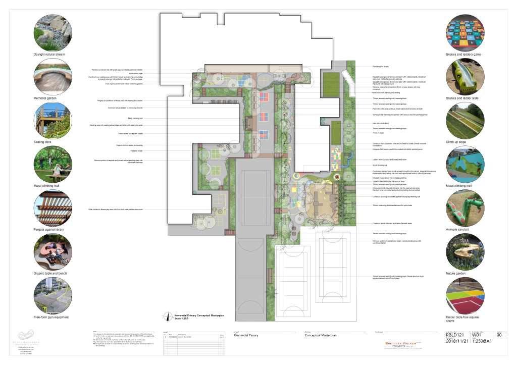 RBLD121_Kronendal Primary Landscape Plan Render Rose Buchanan Landscape design