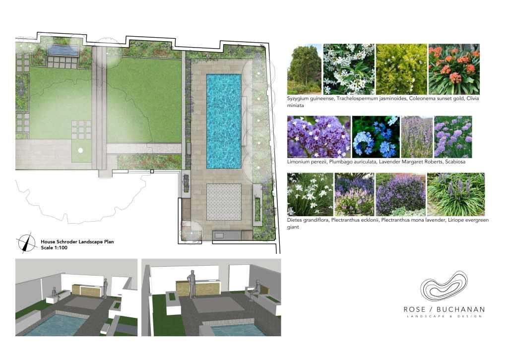 RBLD96_House Schroder Landscape Plan Render Rose Buchanan Landscape design