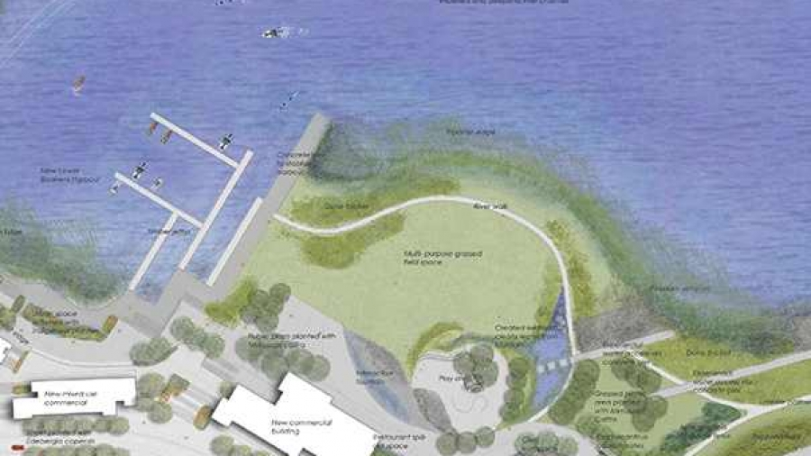 sketch-plan Rose Buchanan Landscape design